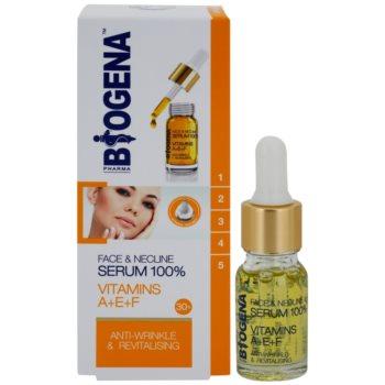 Biogena Face&Neckline Serum 30+ регенериращ серум против бръчки с витамини  A+E+F 1