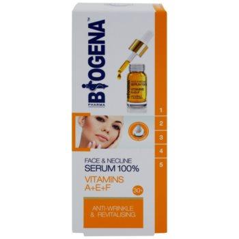 Biogena Face&Neckline Serum 30+ регенериращ серум против бръчки с витамини  A+E+F 2