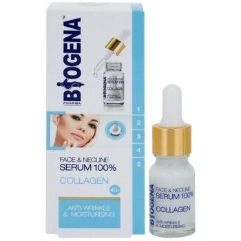 Biogena Face&Neckline Serum 40+ зволожуюча сироватка проти зморшок з колагеном 1