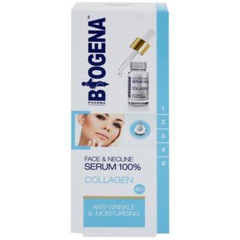 Biogena Face&Neckline Serum 40+ зволожуюча сироватка проти зморшок з колагеном 2
