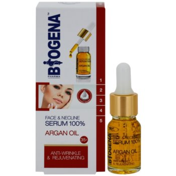 Biogena Face&Neckline Serum 35+ подмладяващ серум против бръчки с арганово масло 1