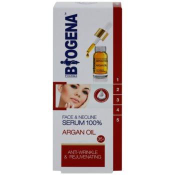 Biogena Face&Neckline Serum 35+ подмладяващ серум против бръчки с арганово масло 2