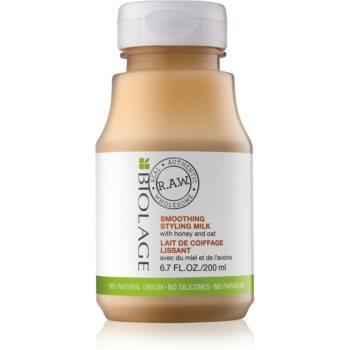 Biolage RAW Styling lapte pentru coafat cu miere și ovăz, pentru netezire