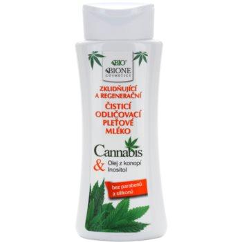 Bione Cosmetics Cannabis lapte demachiant cu efect de calmare  255 ml
