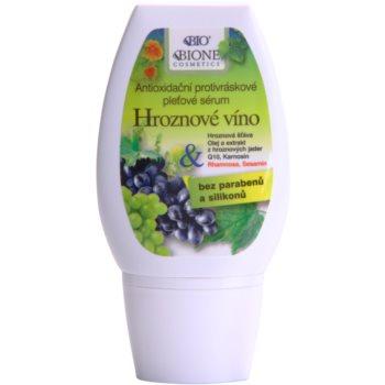 Bione Cosmetics Grapes антиоксидиращ серум против бръчки без парабени