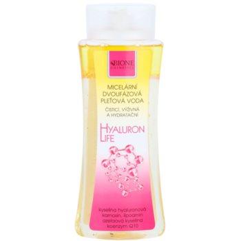 Bione Cosmetics Hyaluron Life apa micelara 2 in 1 cu efect de hidratare