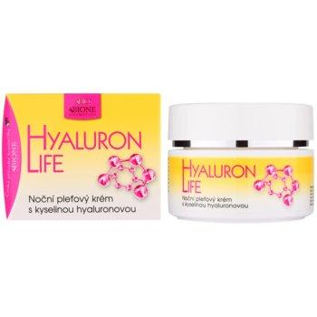 Bione Cosmetics Hyaluron Life Gesichtscreme für die Nacht mit Hyaluronsäure 1