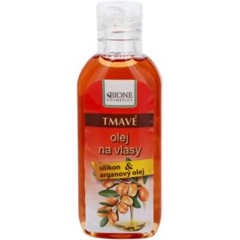 Bione Cosmetics Keratin Argan ulei pentru nuante intunecate ale parului