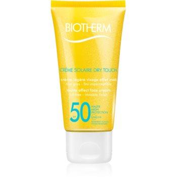 Fotografie Biotherm Créme Solaire Dry Touch matující opalovací krém na obličej SPF 50 50 ml