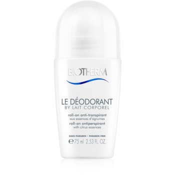 Biotherm Lait Corporel Le Déodorant antiperspirant roll-on fara parabeni  75 ml