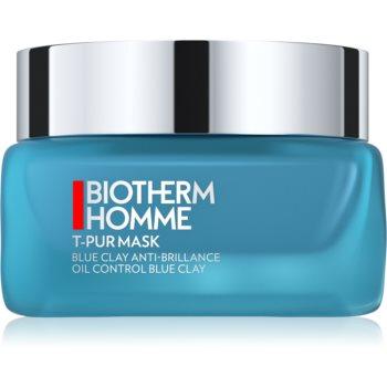 Biotherm Homme T - Pur Blue Face Clay masca hidrateaza pielea si inchide porii