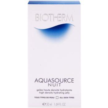 Biotherm Aquasource Nuit emulsie hidratanta pentru toate tipurile de ten 4