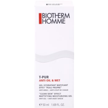 Biotherm Homme T-Pur Anti Oil & Wet хидратиращ гел  за мазна кожа 4