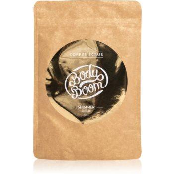 BodyBoom Shimmer Gold exfoliant de corp, cu cafea poza