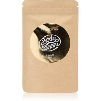 BodyBoom Shimmer Gold exfoliant de corp, cu cafea