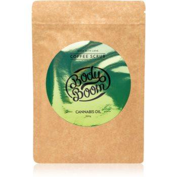 BodyBoom Cannabis Oil exfoliant de corp, cu cafea poza