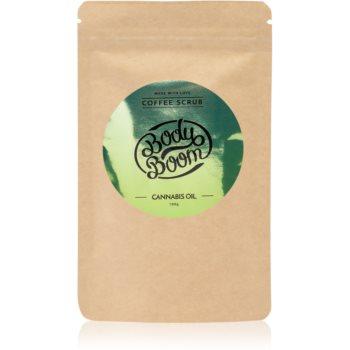 BodyBoom Cannabis Oil exfoliant de corp, cu cafea