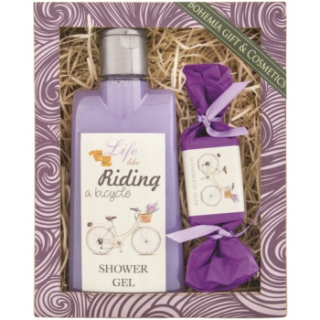 Fotografie Bohemia Gifts & Cosmetics Riding a bicycle Levandule sprchový gel 250 ml + toaletní mýdlo 30 g, kosmetická sada