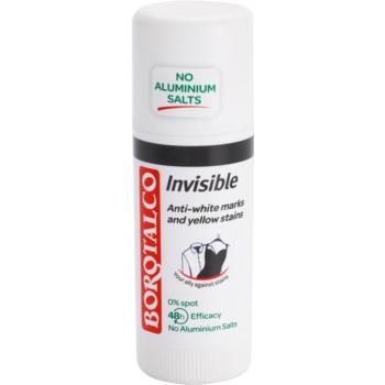 Borotalco Invisible deodorant stick impotriva petelor albe si galbene