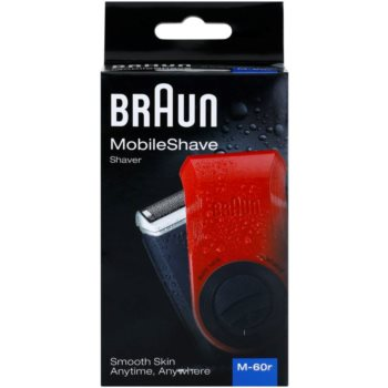 Braun MobileShave M-60r компактна бритва для подорожей червоний 7