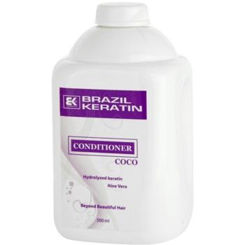 Fotografie Brazil Keratin Coco kondicionér pro poškozené vlasy 500 ml