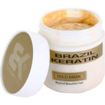 Brazil Keratin Gold відновлююча маска з кератином для пошкодженого волосся 1