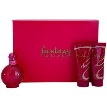 Britney Spears Fantasy dárková sada II. parfemovaná voda 100 ml + tělový krém 100 ml + sprchový gel 100 ml