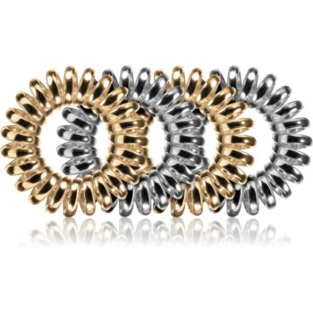 BrushArt Hair Rings Metal Elastice pentru par 4 pc imagine produs