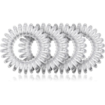 BrushArt Hair Rings cauciuc de păr transparent Clear 4 buc
