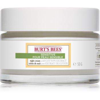 Burt's Bees Sensitive crema hidratanta de noapte pentru piele sensibilă