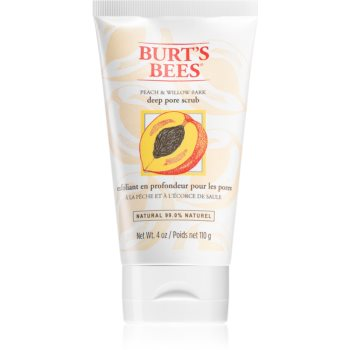 Burt's Bees Peach & Willow Bark peeling curatare profunda