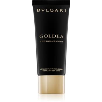 Bvlgari Goldea The Roman Night lapte de corp pentru femei 100 ml cu sclipici