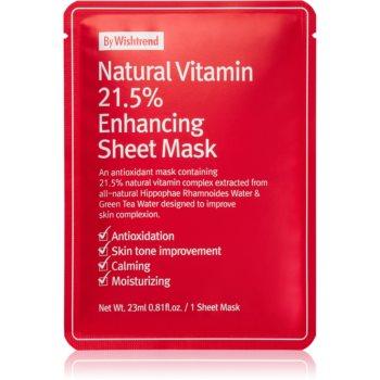 By Wishtrend Natural Vitamin mascã textilã fortifiantã imagine produs