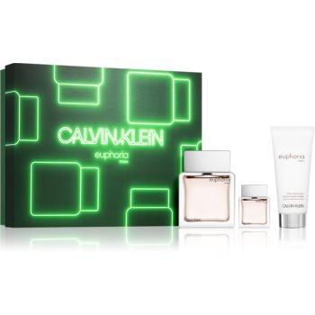 Calvin Klein Euphoria Men toaletní voda 100 ml + toaletní voda 15 ml + balzám po holení 100 ml