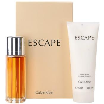 Fotografie Calvin Klein Escape dárková sada III. parfemovaná voda 100 ml + tělové mléko 200 ml
