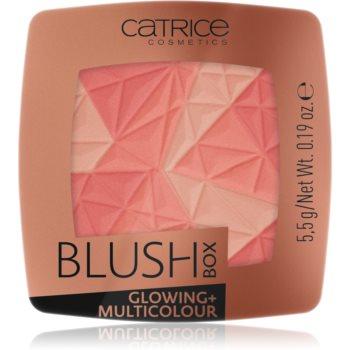 Catrice Blush Box Glowing + Multicolour blush cu efect iluminator imagine produs