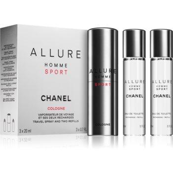 Chanel Allure Homme Sport Cologne eau de cologne ((1x reincarcabil + 2x rezerva)) pentru bărbați