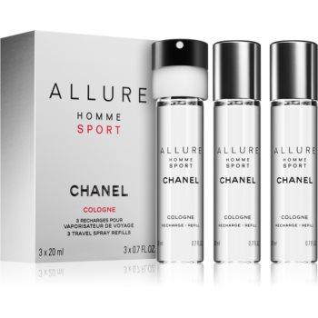 Chanel Allure Homme Sport Cologne kolínská voda (3 x náplň) pro muže 3 x 20 ml