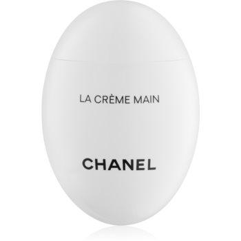 Chanel La Crème Main crema nutritiva de maini si unghii cu efect lucios
