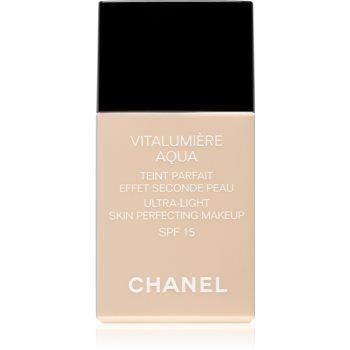 Fotografie Chanel Vitalumiére Aqua ultra lehký make-up pro zářivý vzhled pleti odstín 42 Beige Rose SPF 15 30 ml
