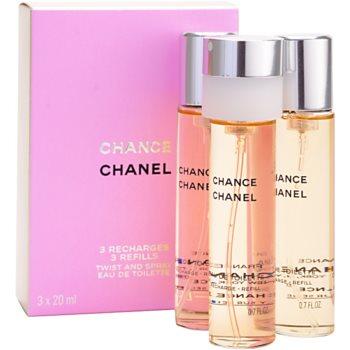 Chanel Chance eau de toilette pentru femei 3 x 20 ml rezerva
