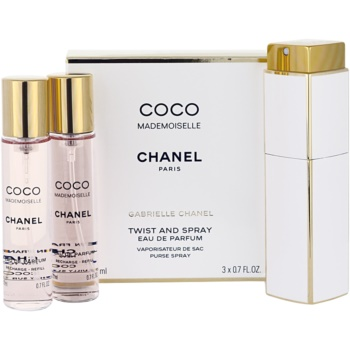 Chanel Coco Mademoiselle eau de parfum pentru femei 3x20 ml (1x reincarcabil + 2x rezerva)