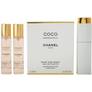 Chanel Coco Mademoiselle Eau de Toilette pentru femei  (1x reincarcabil + 2x rezerva)