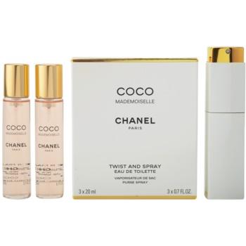 Chanel Coco Mademoiselle Eau de Toilette pentru femei 3x20 ml (1x reincarcabil + 2x rezerva)