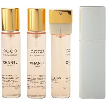 Chanel Coco Mademoiselle Eau de Toilette für Damen  (1x Nachfüllbar + 2x Nachfüllung) 1