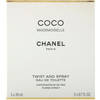 Chanel Coco Mademoiselle Eau de Toilette für Damen  (1x Nachfüllbar + 2x Nachfüllung) 3
