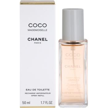 Chanel Coco Mademoiselle eau de toilette pentru femei 50 ml rezerva