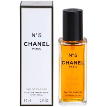 Chanel No.5 eau de parfum pentru femei 60 ml refill cu vaporizator