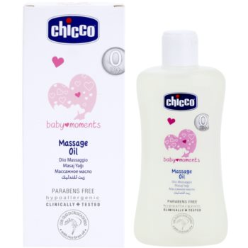 Chicco Baby Moments Care óleo de massagem para bebés 0+ 1