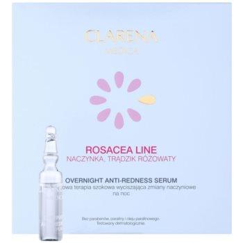 Clarena Medica Rosacea serum na noc do skóry wrażliwej ze skłonnością do przebarwień